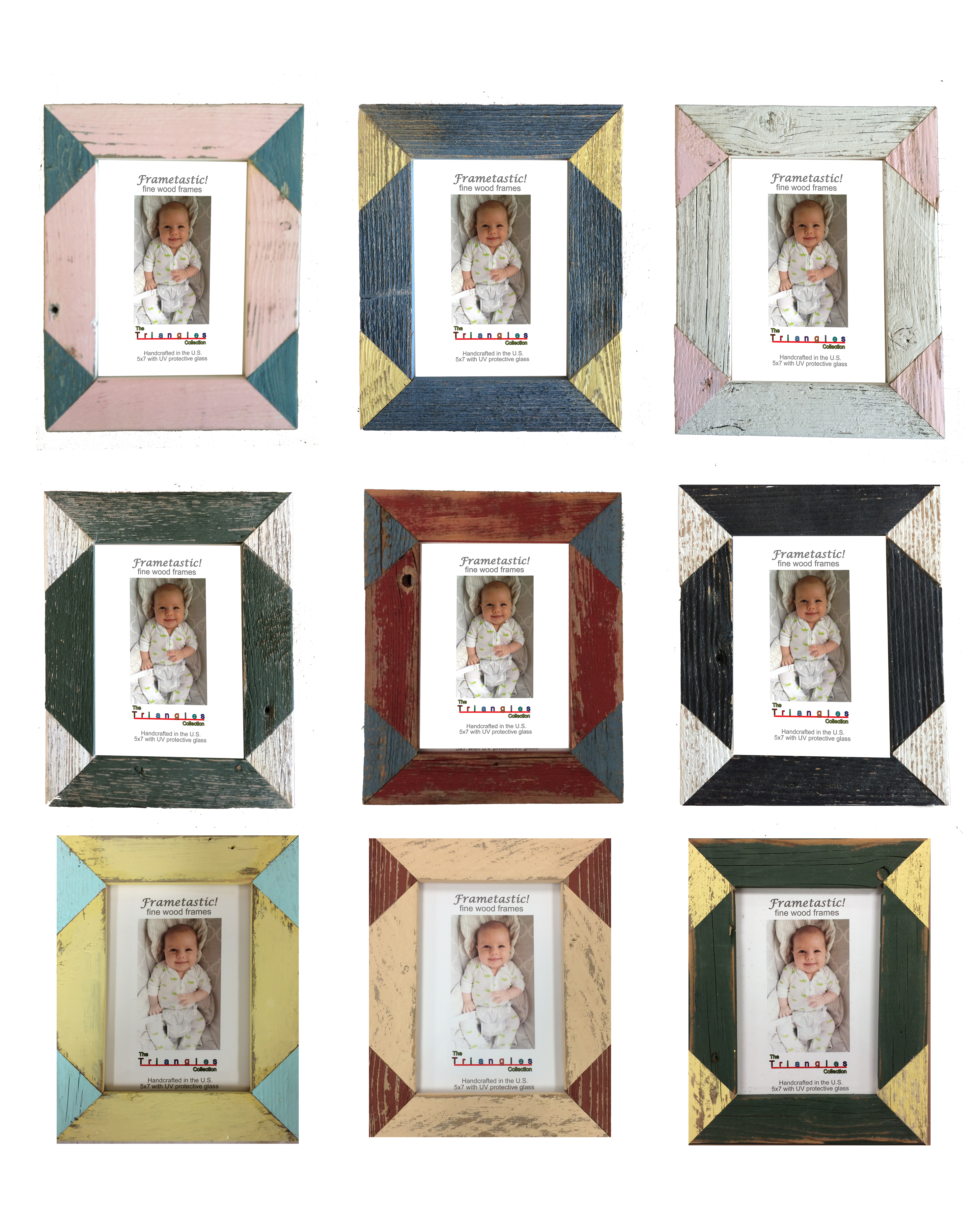 Triangle Inset Photo Frames