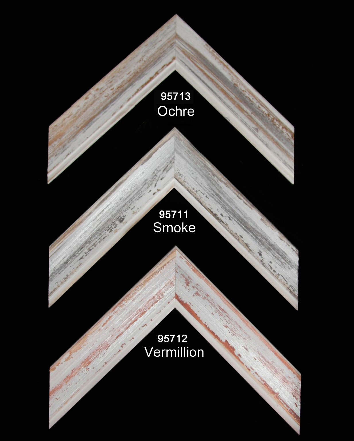 Refined rustic moulding in soft colors