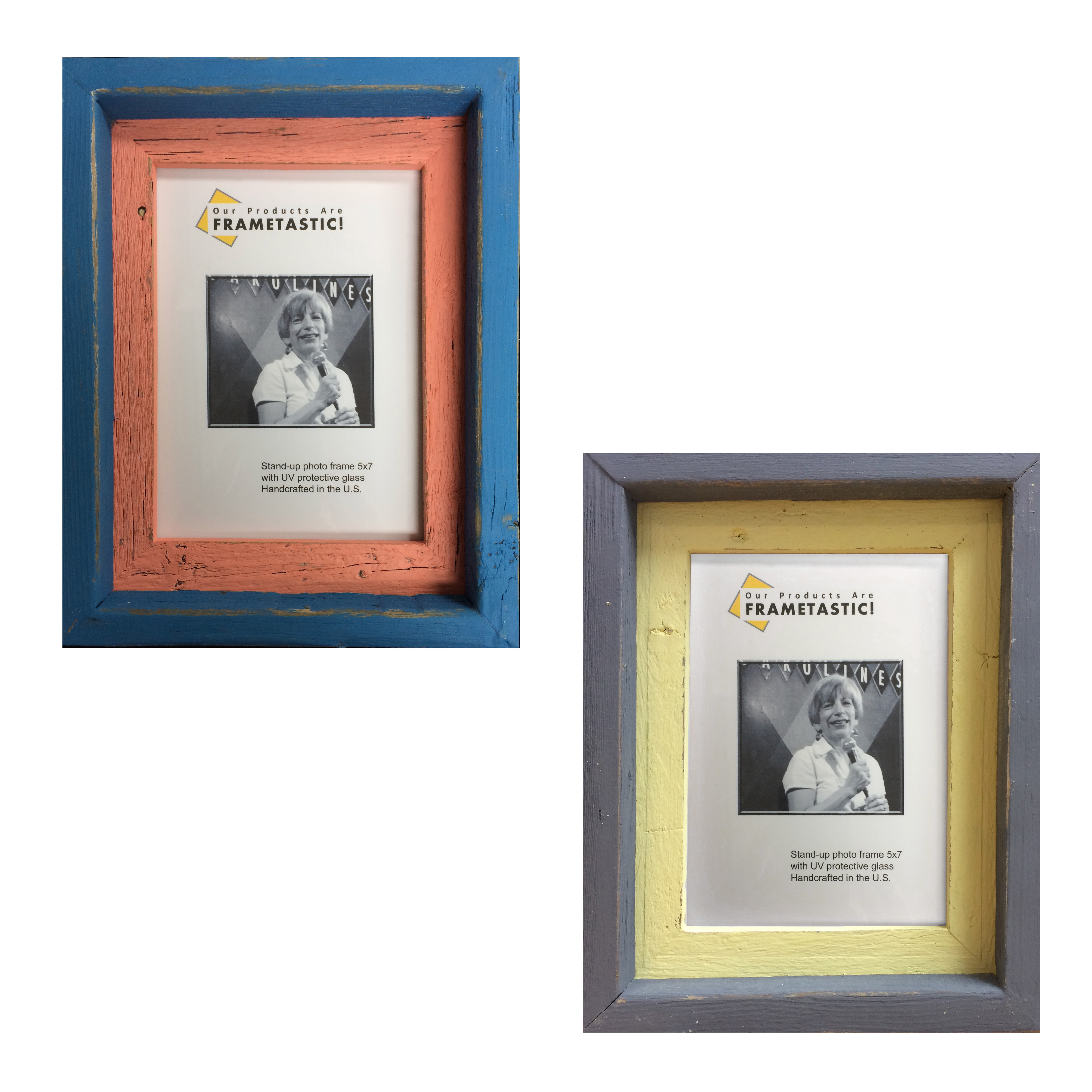 5x7 Photo frame stands vertically or horizontally